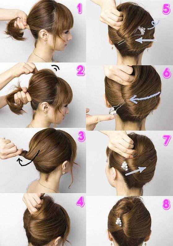 Peinados recogidos pelo medio corto
