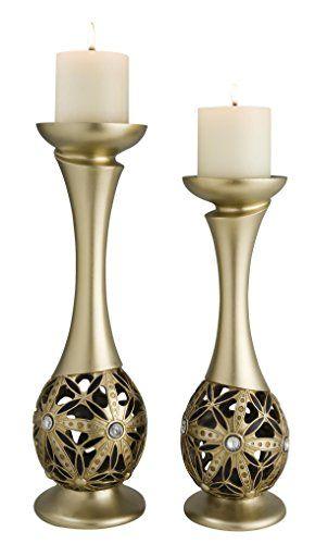 SINTECHNO SK4267C Bejeweled Sunflower Decorative Candleholder 14  16 >>> Click image for more details.