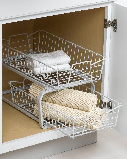 Closetmaid 3608 2 Tier 11 Inch Kitchen Cabinet Organizer White Pull Out Organizers