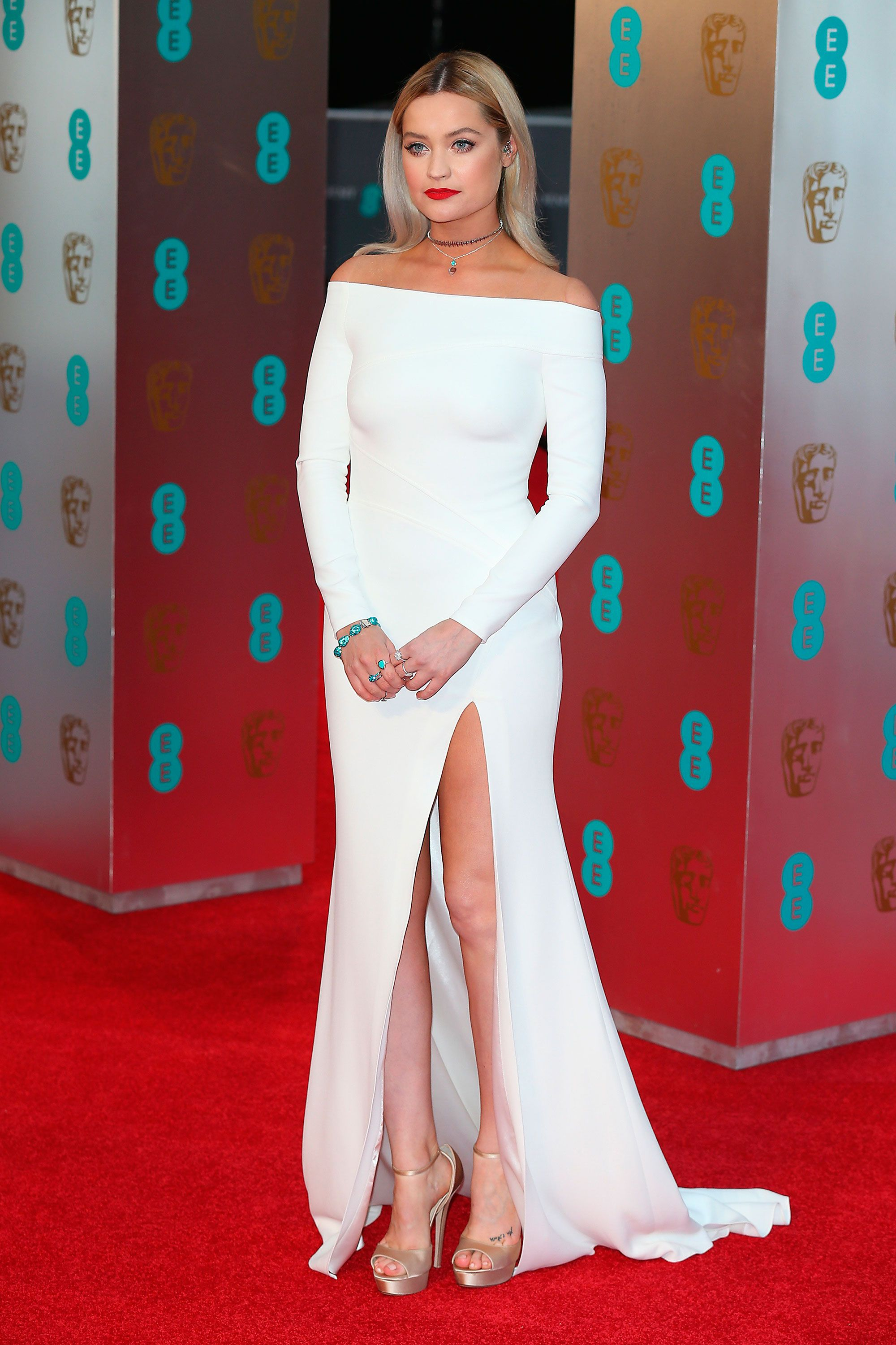 97849a50e4bd Laura Whitmore in an off-the-shoulder gown