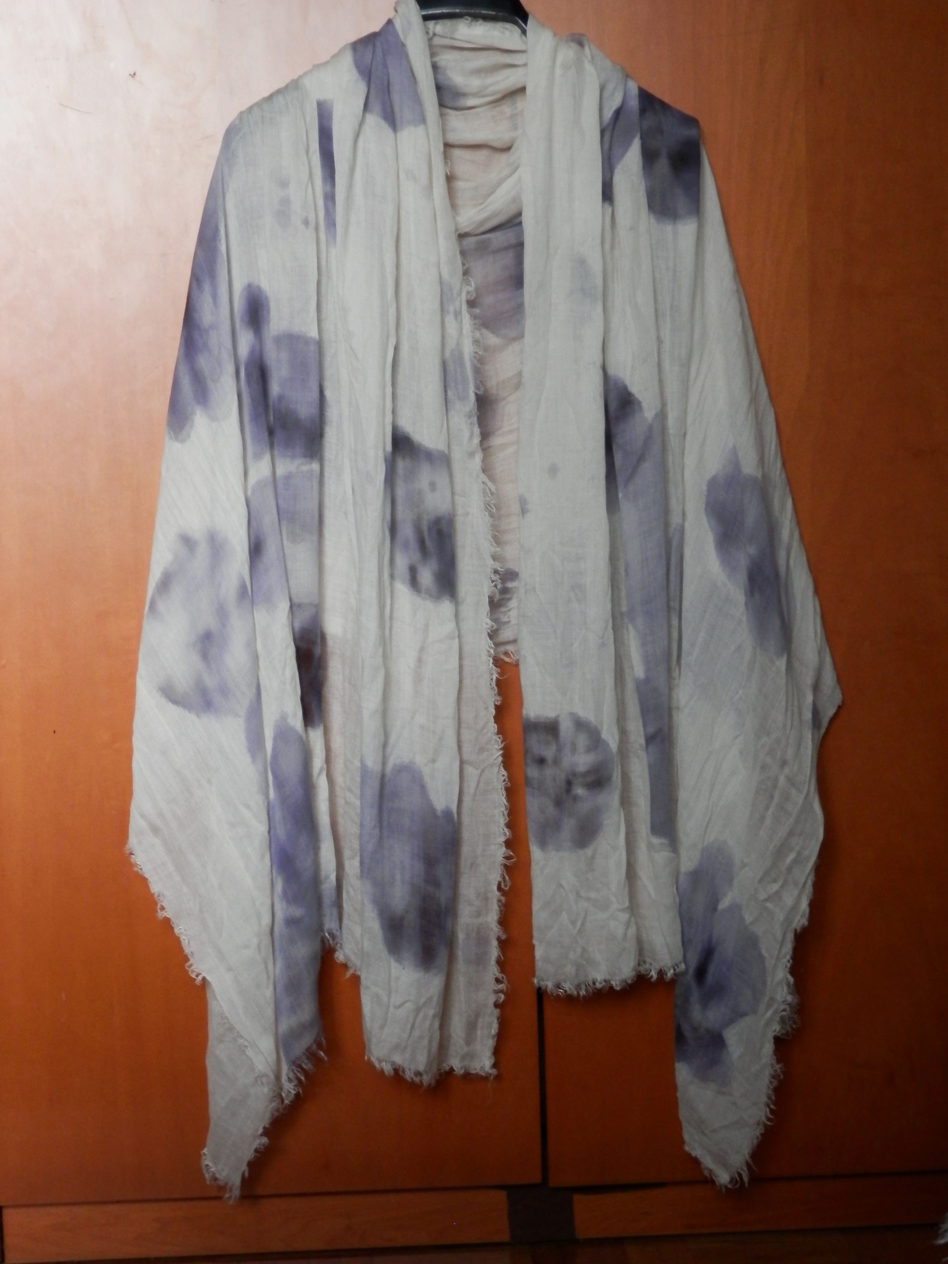 Sharpie and alcohol scarf