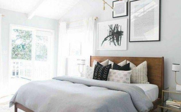 Wohnung Einrichten Helles Schlafzimmer Gestalten Wanddeko Ideen