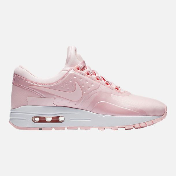 2cac25db31 Right view of Girls' Grade School Nike Air Max Zero SE Running Shoes in Prism  Pink/White