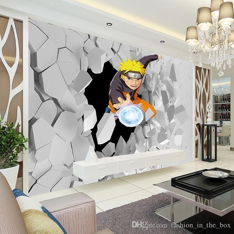 Japanese Anime Wall Mural 3d Naruto Photo Wallpaper Boys Kids Bedroom Custom Cartoon Wallpaper Livingroom Large Wall Art Room Decor Hallway Hd It Wallpapers Hd Anime Wall Art Anime Decor