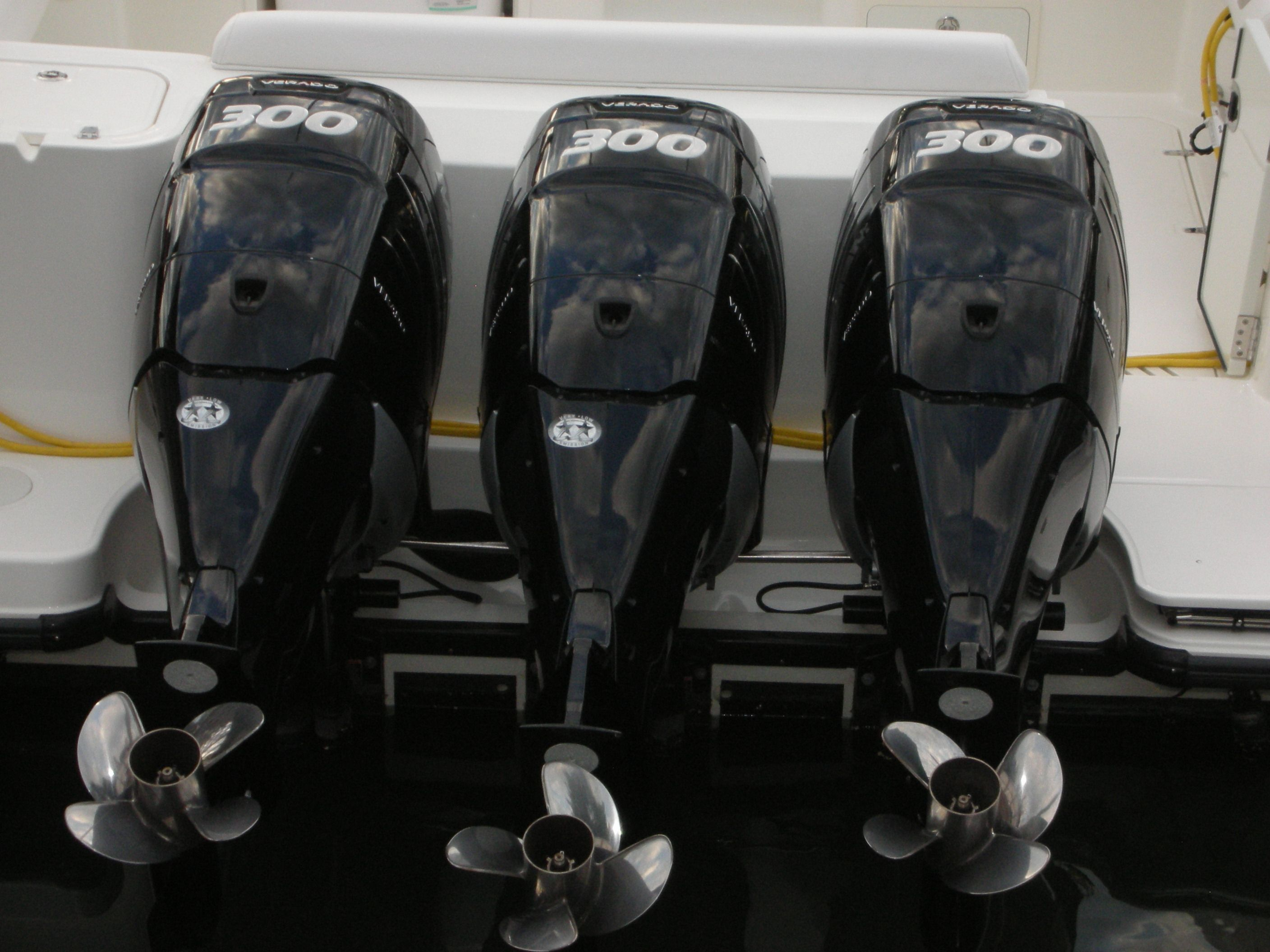 Not one, not two, but three Mercury outboard motors - 900 HP