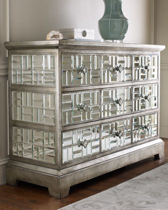 John Richard Collection Gatsby Mirrored Chest Mirrored Furniture