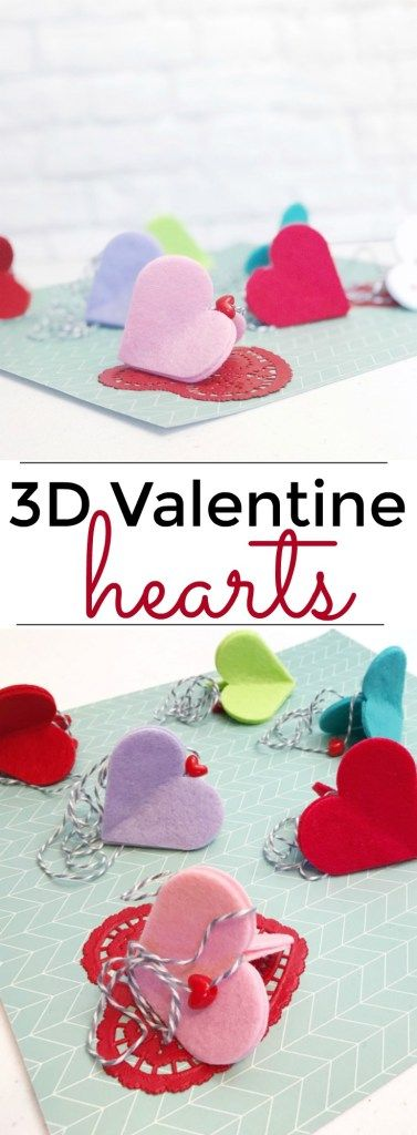 3D Valentine Hearts make a great kid's Valentine's Day craft or classroom activity.