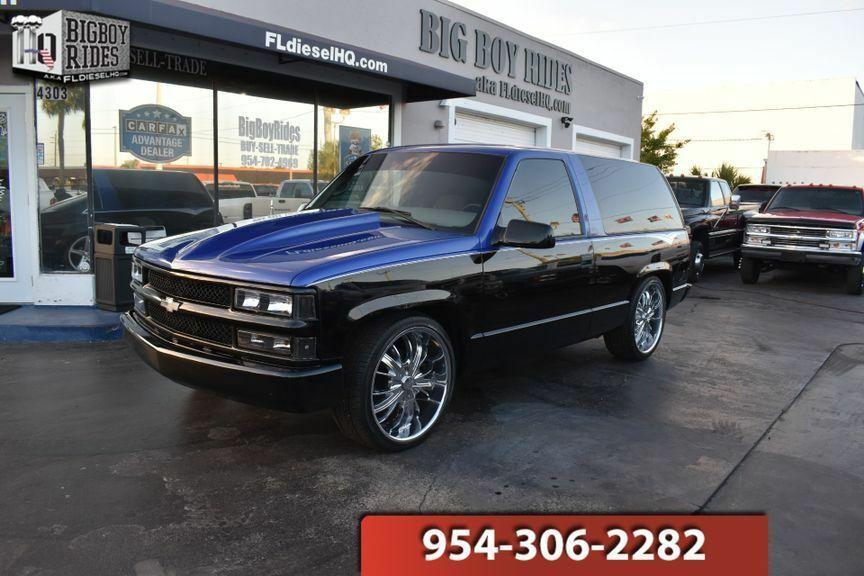 Ebay Advertisement 1999 Chevrolet Tahoe Custom 2 Door 1999 Chevrolet Tahoe 2 Door Custom Suv 2 Tone 22 Wheels Air Rid Chevrolet Tahoe 2 Door Tahoe Chevrolet