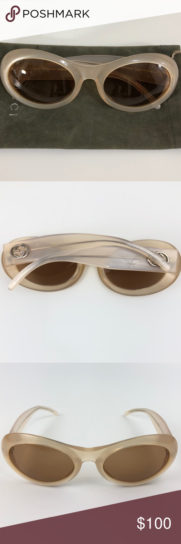 aae6b7847435f Women s AUTHENTIC Gucci GG 2400 N S Sunglasses Pre-owned Authentic Retro  Gucci Sunglasses Free from scratches Cat Eye Lens  Brown Gradient GG Logo  Frame  ...