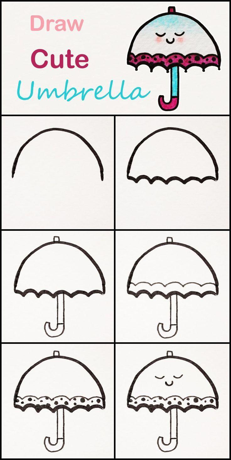 Aprende A Dibujar Un Lindo Paraguas Paso A Paso Tutorial Muy