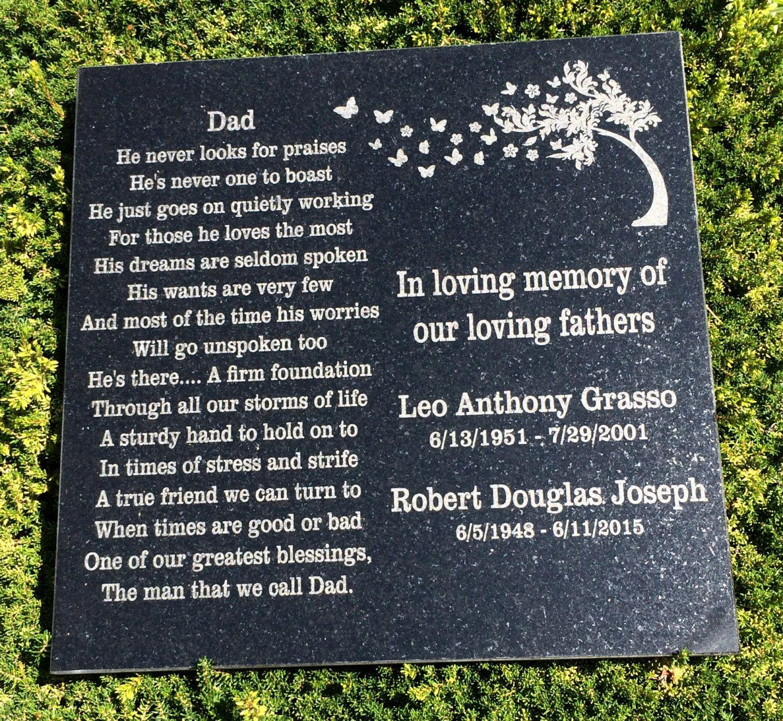 12x12 Engraved Granite Garden Memorial Laser Engraved Granite Memorial Garden Memorial Memorial Ston Memorial Stones Memorial Garden Engraved Memorial Stone