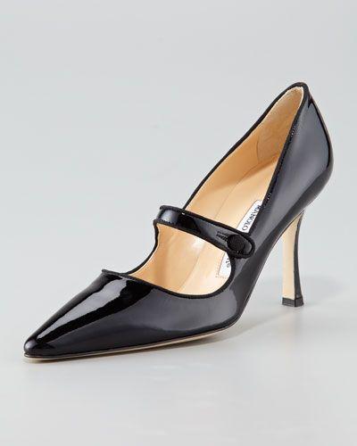 manolo blahnik mary jane shoes