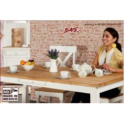Photo of Dining table, kitchen table, white, shabby chic, country style, from Mexico 1a direct import1a direct import