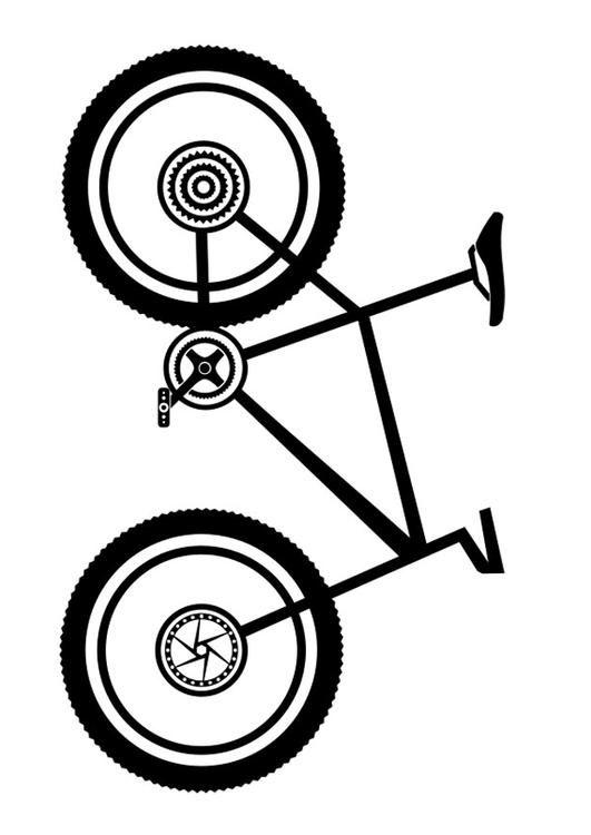 Malvorlage Mountainbike. Bilder für Schule und Unterricht ...