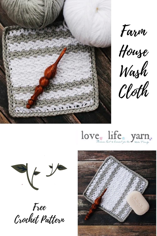 Photo of Free Crochet Pattern – Farmhouse Wash Cloth