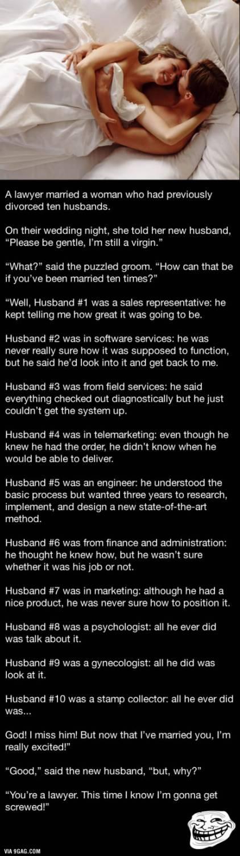 10 husbands still a virgin. http://bit.ly/1UavKg9 Related http://bit.ly/1RLH44k