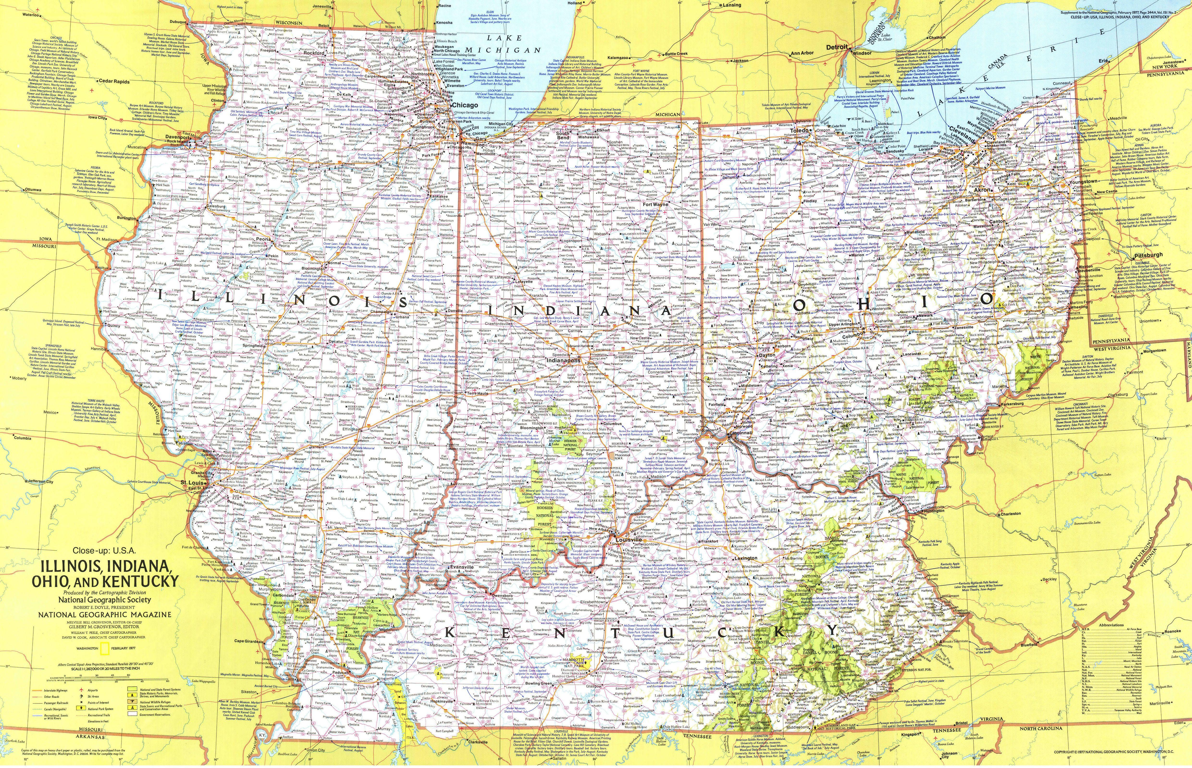 map of ohio kentucky and indiana Illinois Indiana Ohio Kentucky Map Has A 4961 3196 Version map of ohio kentucky and indiana