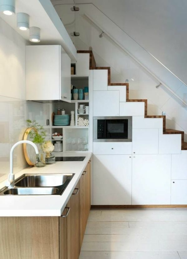 metod küchen schränke unter der treppe Hybrid Kitchen - ikea küchen beispiele
