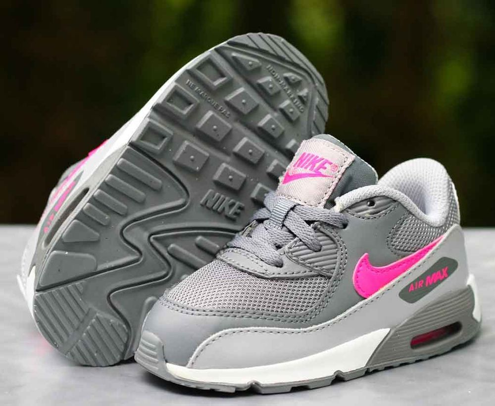 Nike Air Max 90 Premium Mesh Infant Toddler Grey Pink Size 7c  Nike   Athletic 044aced99