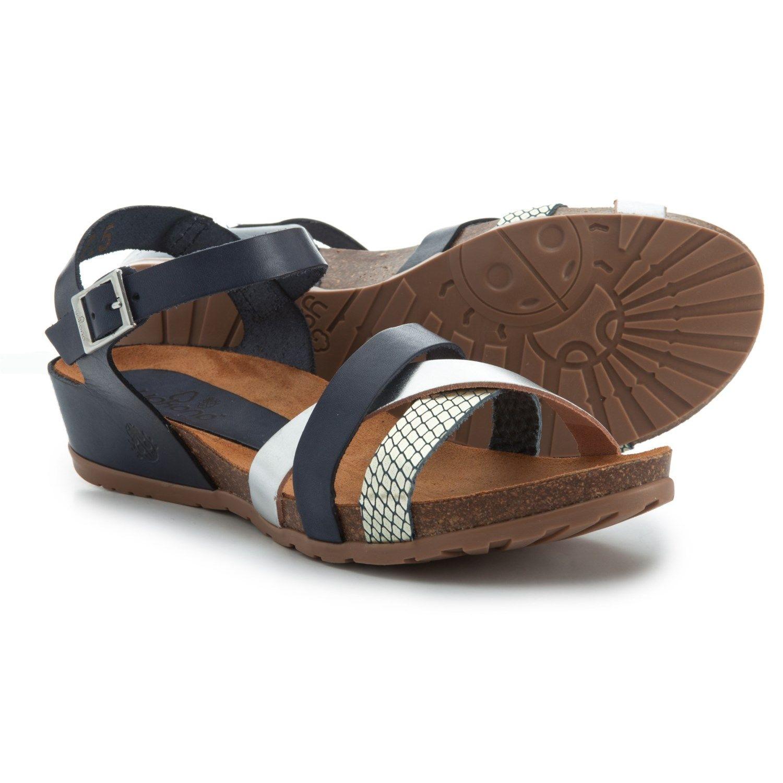 387312691b Yokono Made in Spain Capris 006 Wedge Sandals (For Women) in Multi  Navy/Silver Met/Snake, Multi Cuero/Silver Met/Snake at Sierra Trading Post.
