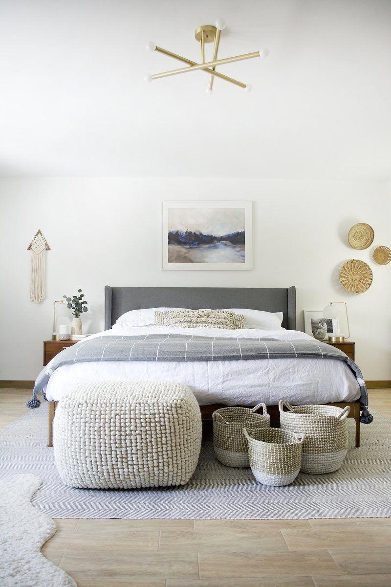 neutral living spaces Coastal Bedroom Design