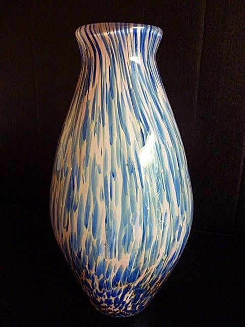 Details About Stunning Heavy Vintage Murano Art Glass Basket Vase