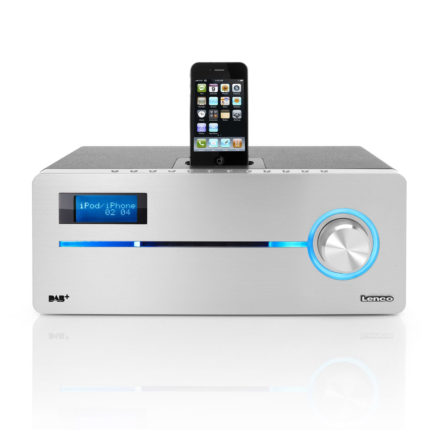 new product 0ff16 ebb94 Lenco iPod/iPhone Docking station with DAB+, FM Radio and CD/MP3 ...