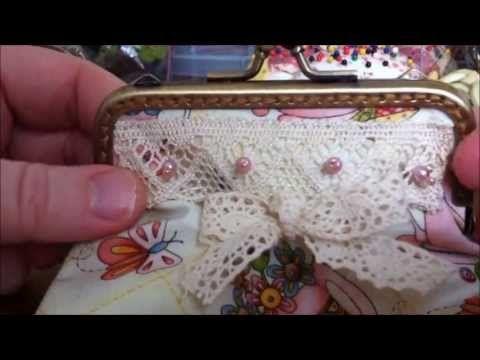 DIY Bügeltasche - Kosmetiktasche mit Taschenbügel selber nähen ...