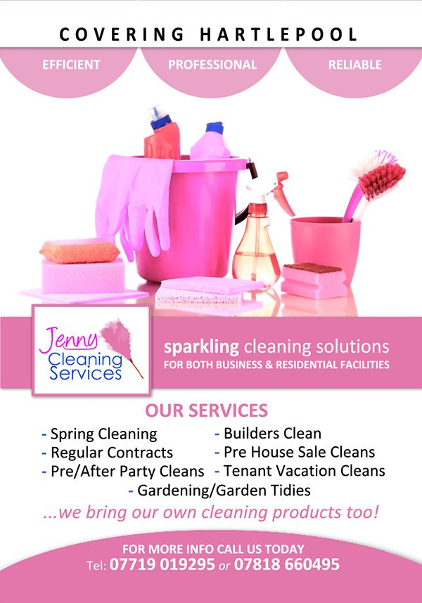 Flyer design for Jenny Cleaning Services | Kim | Pinterest