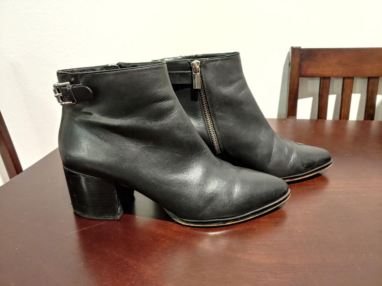 Michael Kors Saylor Leather Ankle Boot