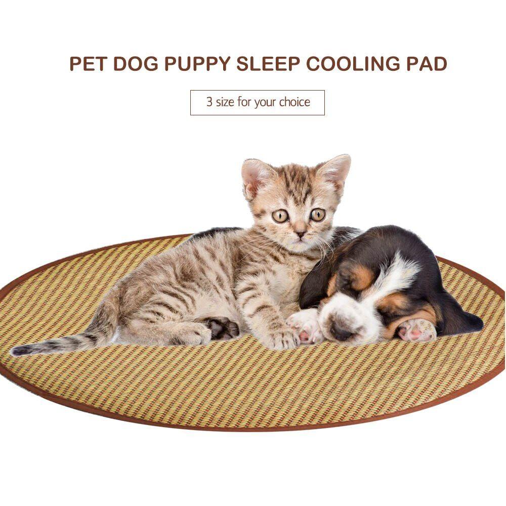 Round Pet Cushion Dog Bed Mats Puppy Cat Cooling Pad Sleep Mat