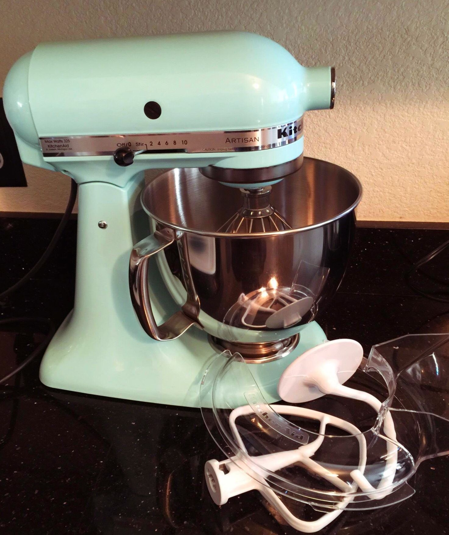 Ice blue kitchenaid mixer with images kitchen aid