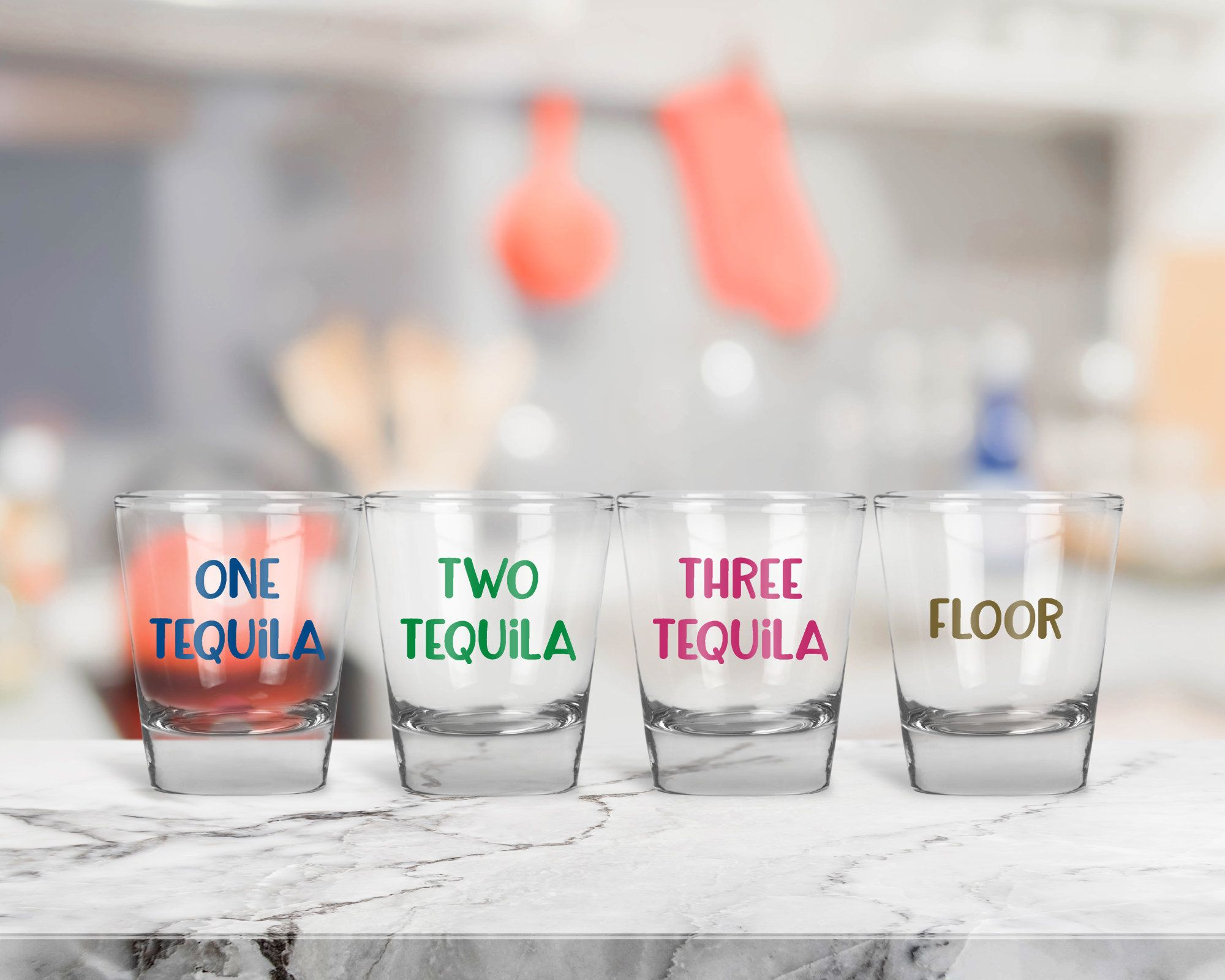 One Tequila Two Tequila Three Tequila Floor Shot Glasses, Shot Glass ...