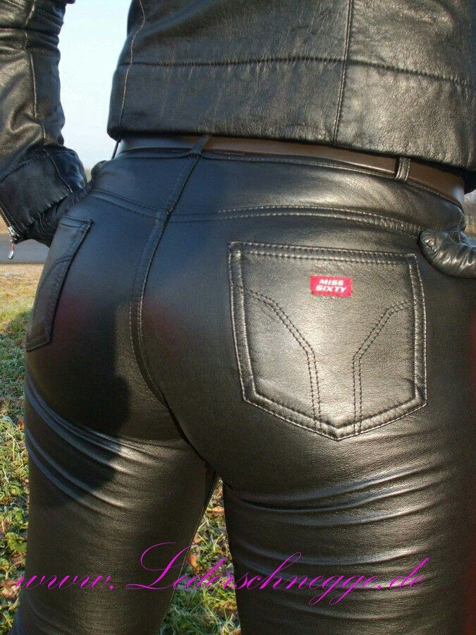 how to choose discount for sale hot new products Miss Sixty leather pants (back) | Deri