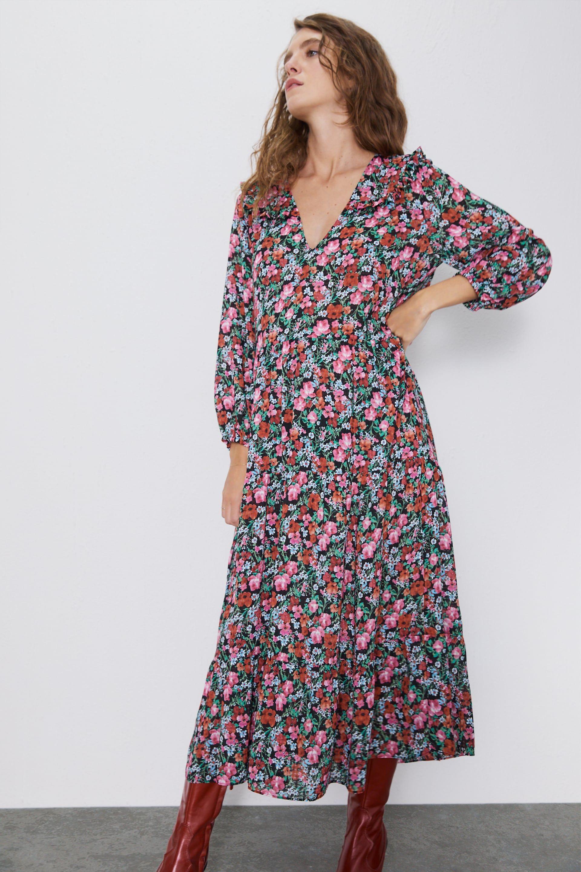 robe imprimé avec manches