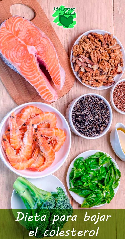 Dieta para colesterol alto adelgazar