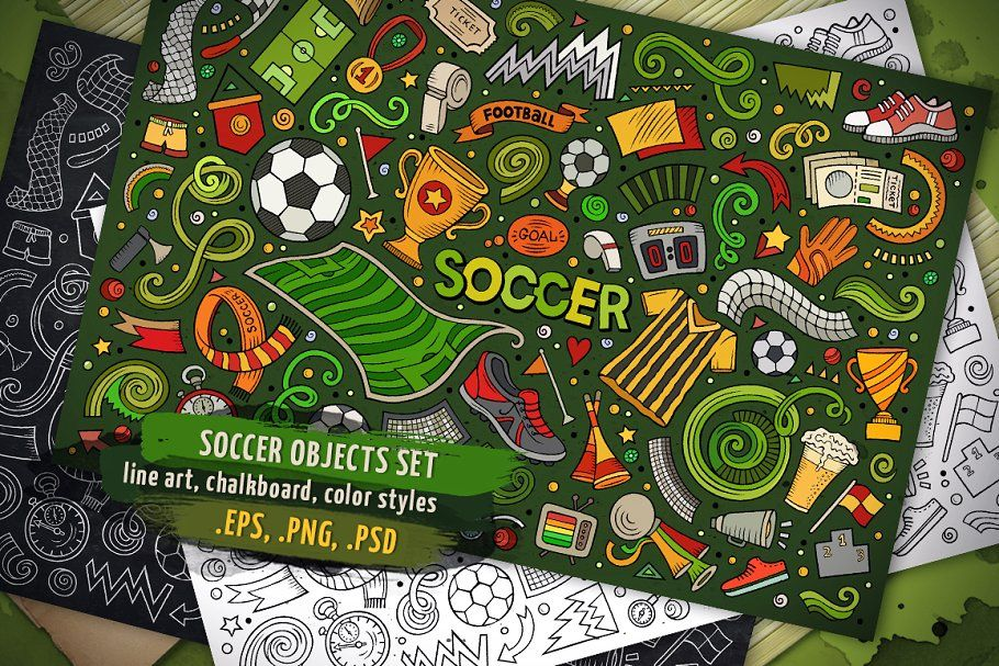 Sports Objects Elements Big Set In 2020 How To Draw Hands Football Drawing Pencil Illustration