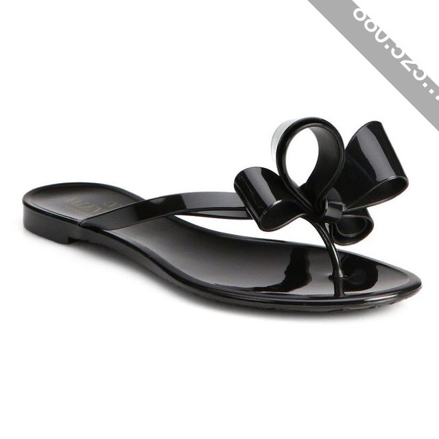 d532630d1046 Valentino Couture Bow Jelly Flip Flops