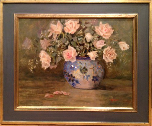 """""""Eleven Roses"""" by Lu Haskew available through Columbine Gallery on Amazon Fine Art"""