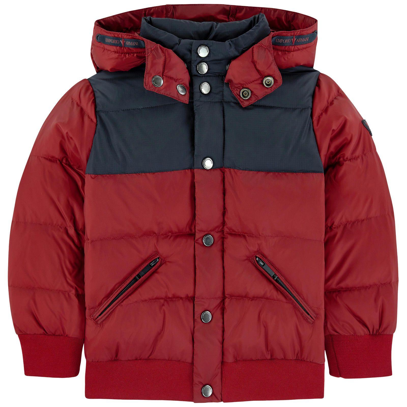Armani Junior Down And Feather Padding Coat Armani Junior Kids Jacket Winter Jackets [ 1600 x 1600 Pixel ]
