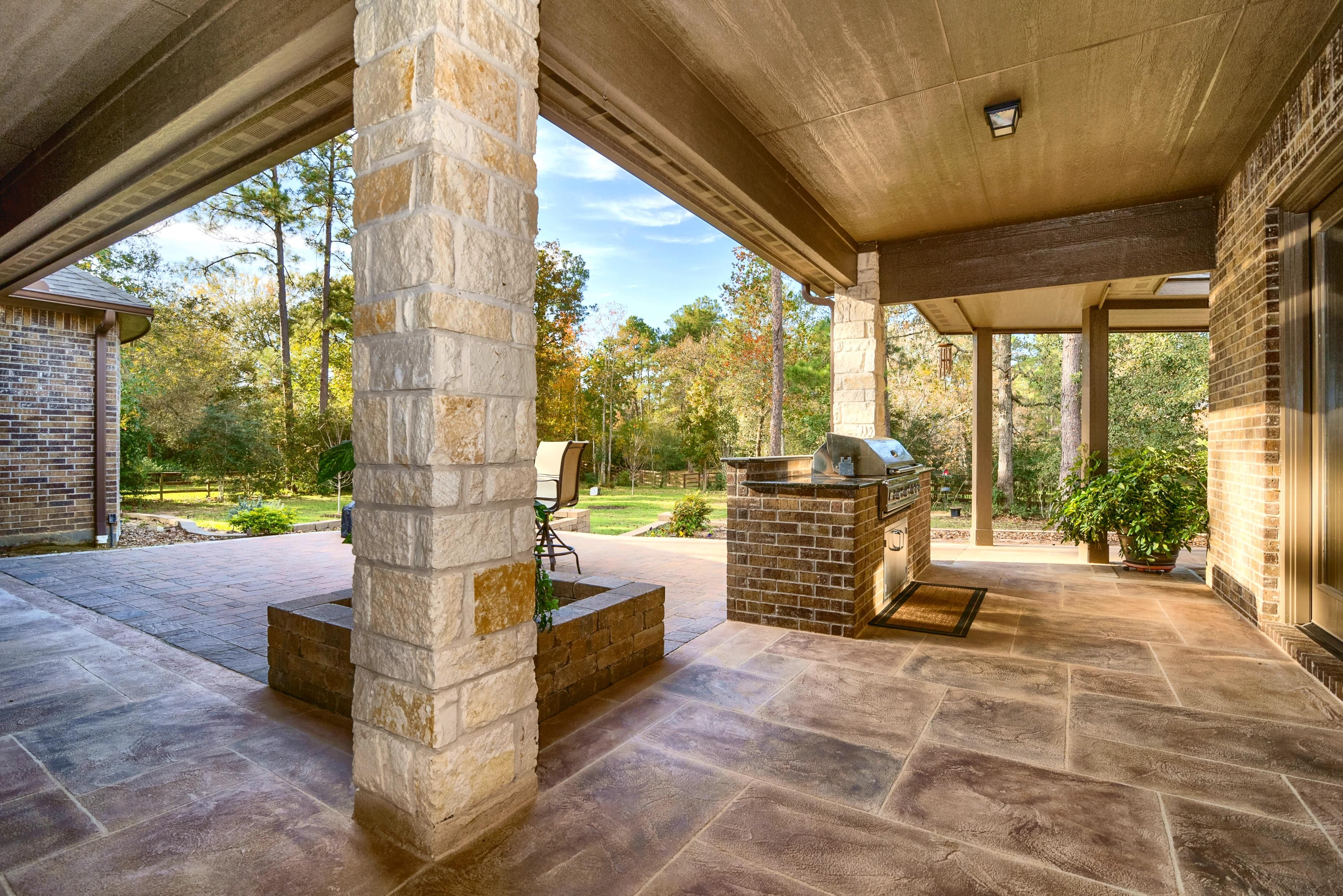Stamped Concrete Driveway Archives Allied Outdoor Solutions Outdoor Solutions Low Maintenance Backyard Concrete Driveways