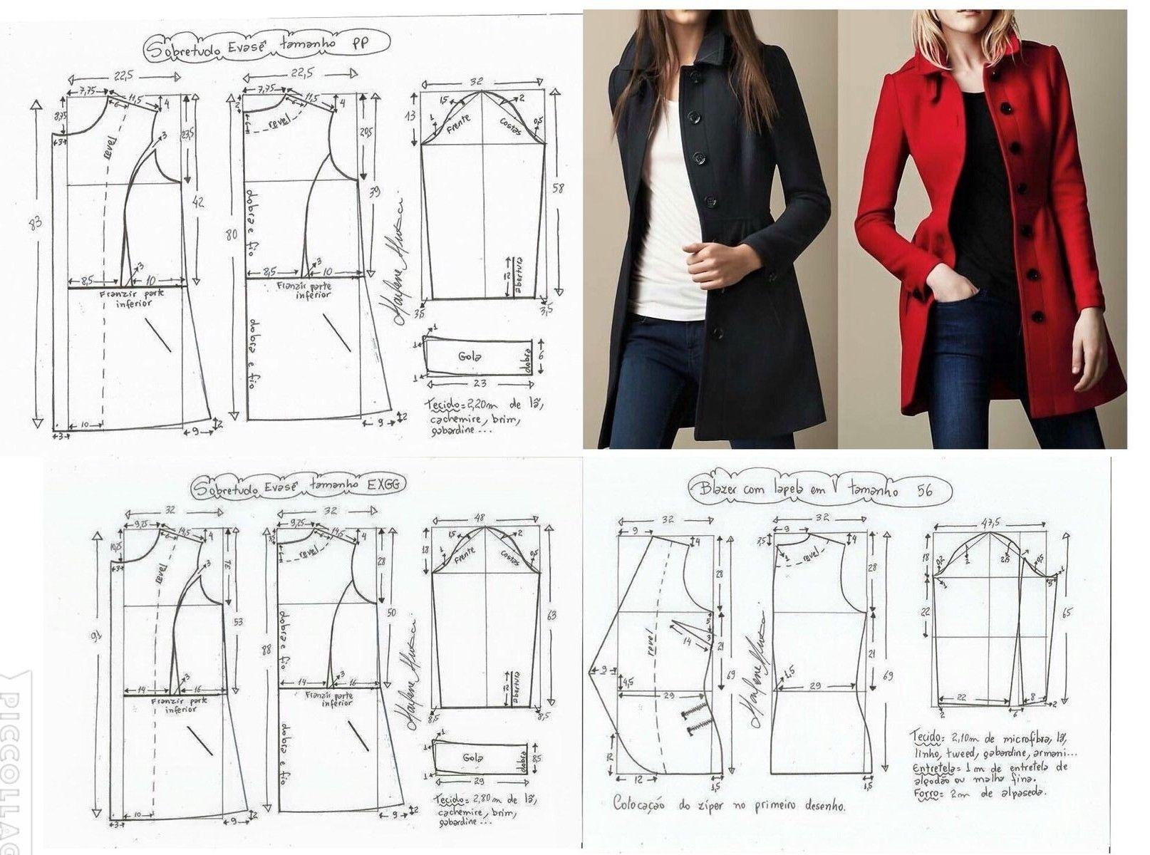 costura #moldes I want these Burberrys so baaaaad. | blazer ...