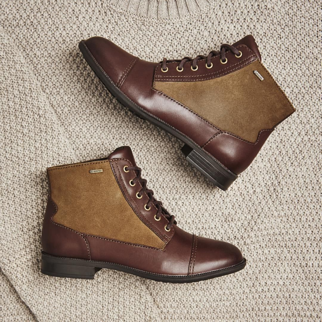 Anyone for 'Mint Chai'? A refreshingly stylish women's ankle boot that's ideal for autumnal outdoor adventures...safe in the knowledge that there's the waterproof & breathable @goretexeu technology built into the boots!  #Clarks #autumn #fall #style #goretex #boots #shoes #fashion #womensfashion