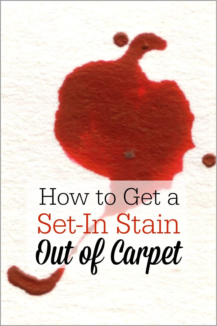 Getting a Set-in Stain out of Carpet #setinstains
