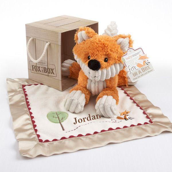Fox in a box plush fox and lovie gift set look at the grin on this fox in a box plush fox and lovie gift set look at the grin on negle Gallery