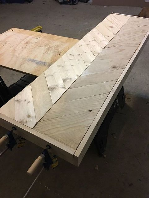 How To Build A Herringbone Sofa Table Table Sofa Table Table