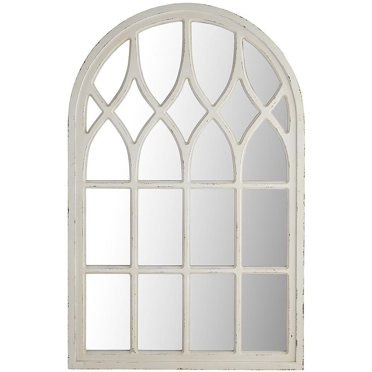 Whitewashed Arch Window Mirror Arched Window Mirror Window Mirror White Windows