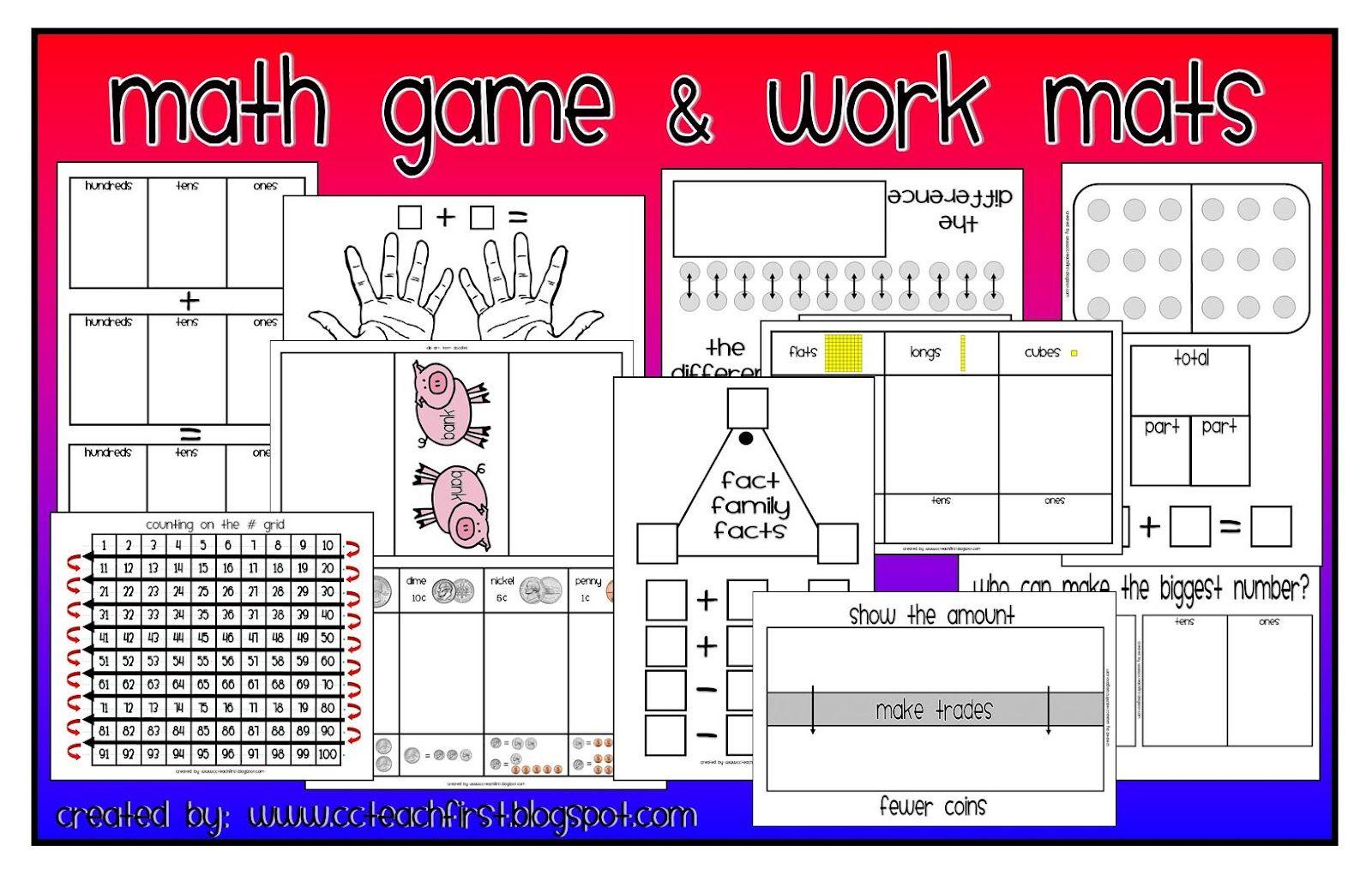 Clip Art By Carrie Teaching First Math Everyday Math Math Work