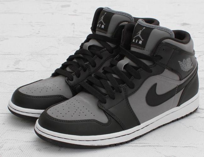 Air Jordan 1 Mi Refroidir Gris / Noir