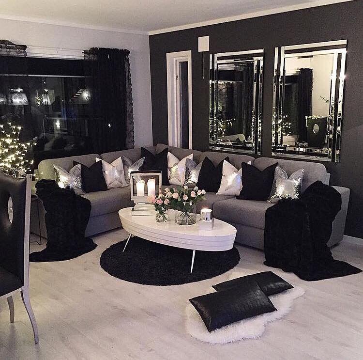 """""""™ð•šð•Ÿð•¥ð•–𝕣𝕖𝕤𝕥 Н•œð•¤ð•ð•'𝕪𝕟𝕟𝕟 Small Living Room Decor Black Living Room Living Room Decor Apartment"""
